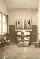 East Hall, organ studio, circa 1975.