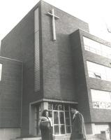 Science Hall, west facade, facing southeast, circa 1965.