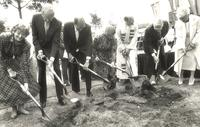 Foss Lobeck Miles Center, groundbreaking ceremony, 1987.