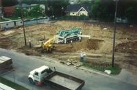 Lindell Library, excavation, facing northwest, 1996.