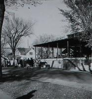 Si Melby Hall, cornerstone ceremony, facing northwest, 1960.