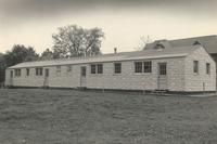Veterans Housing, north facade, facing southeast, circa 1945.