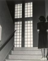 Science Hall, east staircase, facing east, circa 1948.