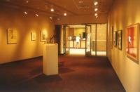 Lindell Library, Gage Family Art Gallery, facing south, circa 1997.