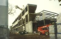 Lindell Library, construction, facing west, 1996.