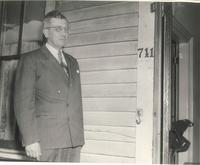 West Hall, entrance to residence 711, 1948.