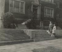 Sivertsen Hall, steps to north entrance, facing southwest, circa 1950.