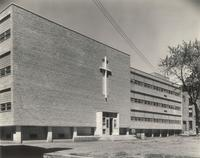 Science Hall, southeast corner, facing northwest, 1949.