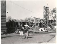 Science Hall, construction, facing southeast, 1948.