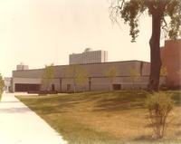 Ice Arena, north facade, facing southeast, circa 1980.