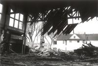 Gymnasium, demolition, facing north, 1960.