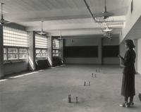 Science Hall, empty laboratory, facing southwest, 1949.