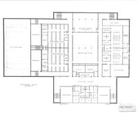 Si Melby Hall, floor plan for basement, circa 1960.