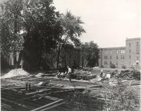 West Hall, demolition, facing northwest, 1948.