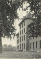 Old Main (1872-1948), north facade, facing east, circa 1872.