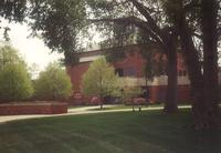 Foss Lobeck Miles Center, north facade, facing southeast, circa 1990.