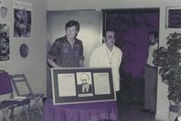 The Lutheran Bishop to Panama, Ken Mahler, and his wife Rhoda Mahler speaks at the inauguration of the Augsburg center in Managua, Nicaragua, 1984