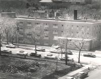 Gerda Mortensen Hall, east facade, facing west, circa 1960.