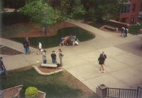 Quad, aerial view from Christensen Center, circa 1990.