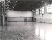 Gymnasium, interior, facing northeast, circa 1955.