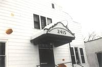 Little Theater, main entrance facing southwest, circa 1960.