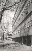 Science Hall, west facade, facing northeast, circa 1955.