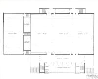 Si Melby Hall, plan for main floor, circa 1960.
