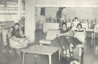 Science Hall, student lounge, 1950s.