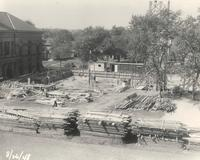 Science Hall, construction, 1948.