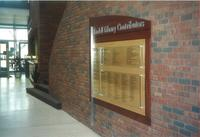 Lindell Library, contributors plaque, facing southeast, circa 1997.