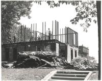 West Hall, demolition of top floor, facing northeast, 1948.