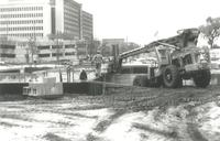 Foss Lobeck Miles Center, construction site, facing northeast, 1987.