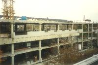 Lindell Library, construction, facing north, 1996.