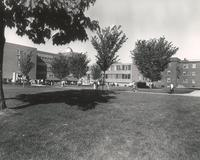 The Quad, facing northwest, circa 1960-66.