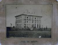 Old Main (1872-1948), northwest corner of west wing, facing southeast.