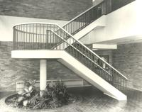 Charles S. Anderson Music Hall, south staircase, facing northeast, circa 1979.