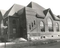 Music Building, south facade, facing northeast, circa 1965.