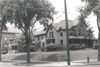 Morton Hall, southeast corner, facing northwest, circa 1935.