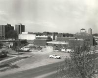 Foss Lobeck Miles Center, east side of construction site, facing southwest, 1988.