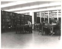 Sverdrup Library, second floor, 1960s.