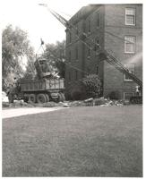 Old Main (1872-1948), demolition, facing northeast, 1949.