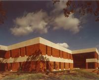 Charles S. Anderson Music Hall, southwest corner, facing northeast, circa 1979.