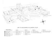 Augsburg College campus plan, facing southwest, circa 1955.