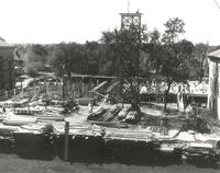 Science Hall, construction, circa 1949.