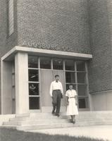 Science Hall, northwest corner, facing southeast, 1949.