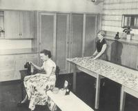 Science Hall, sewing laboratory, 1953