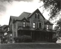 Morton Hall, east facade, facing northwest, circa 1955.