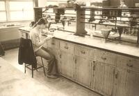 Science Hall, chemistry laboratory, circa 1970.