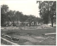 West Hall, demolition, facing northeast,1948.