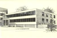 Sverdrup Hall, architect's rendering, circa 1954.